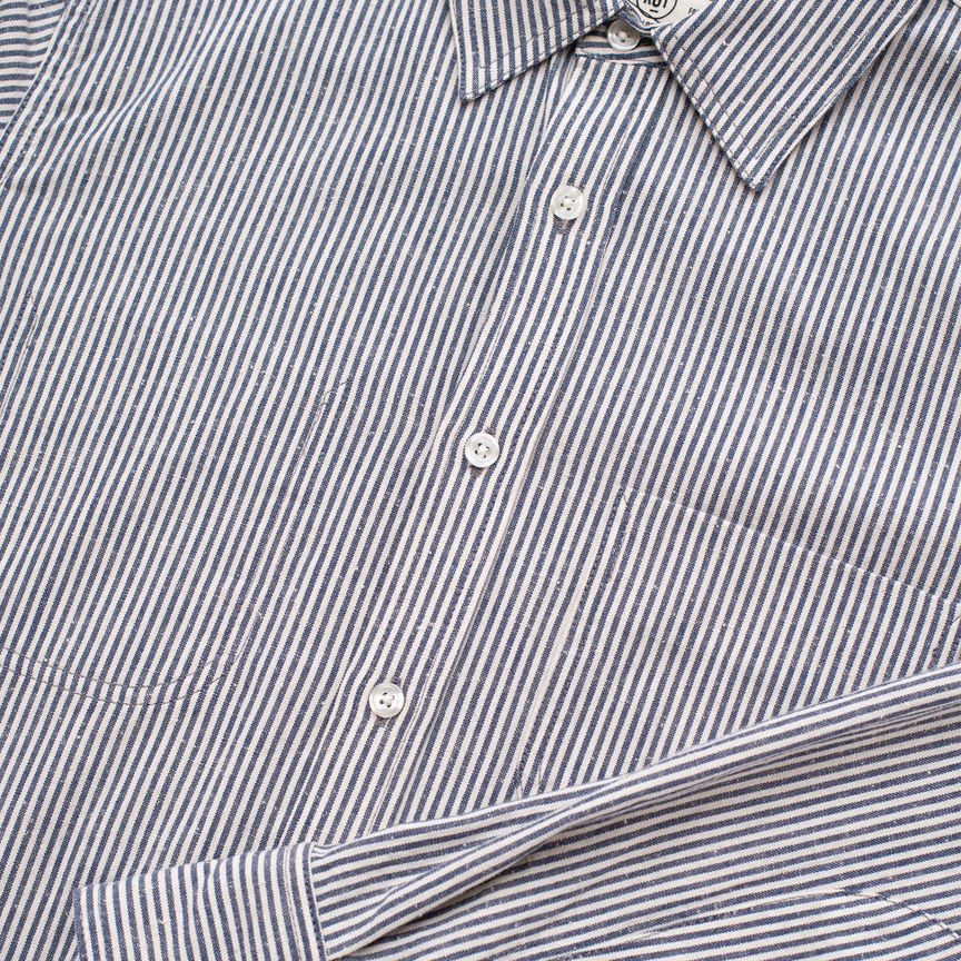 Jumper Shirt - Neppy Classic Stripe