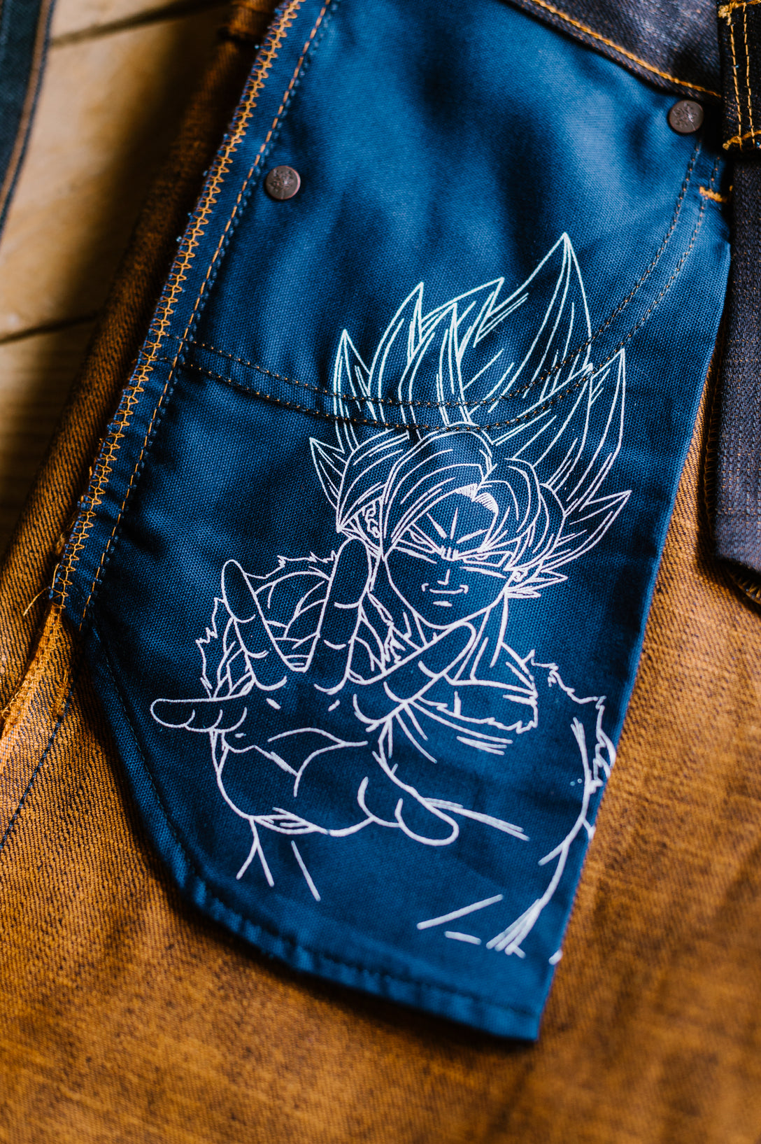 12.5oz - Goku Super Saiyan Selvedge - Super Guy