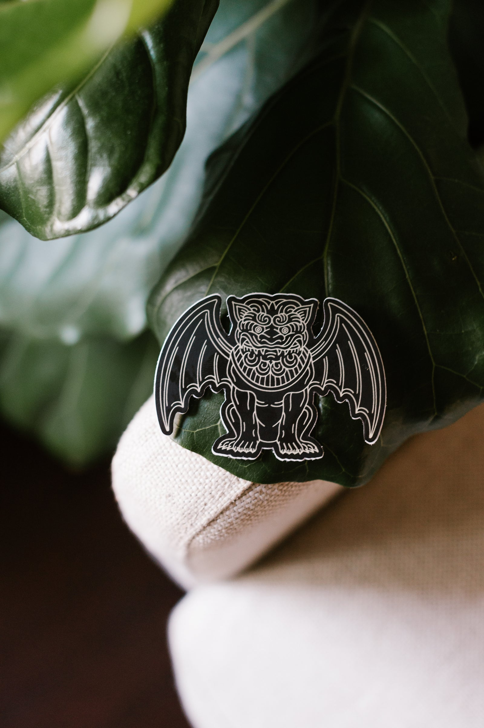 Gargoyle Sticker - Black