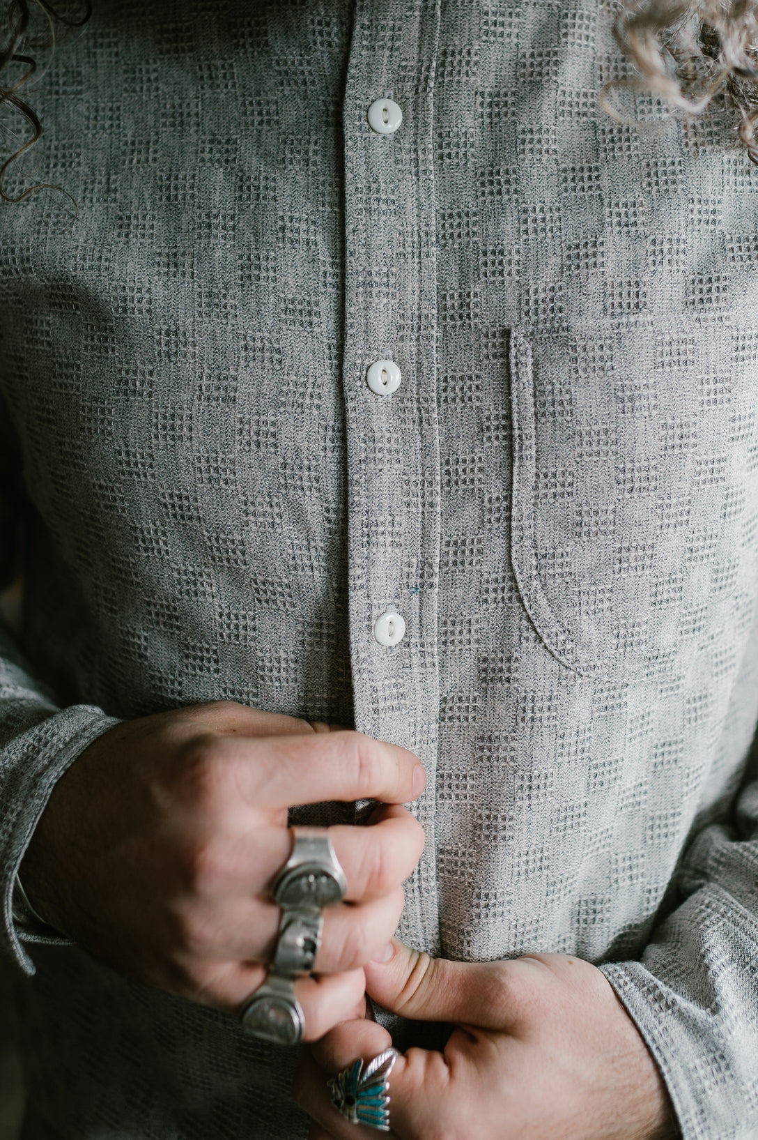 Traveler Shirt - Grey Jacquard