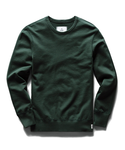 Mid Wt Terry Crew Neck - Forest Green