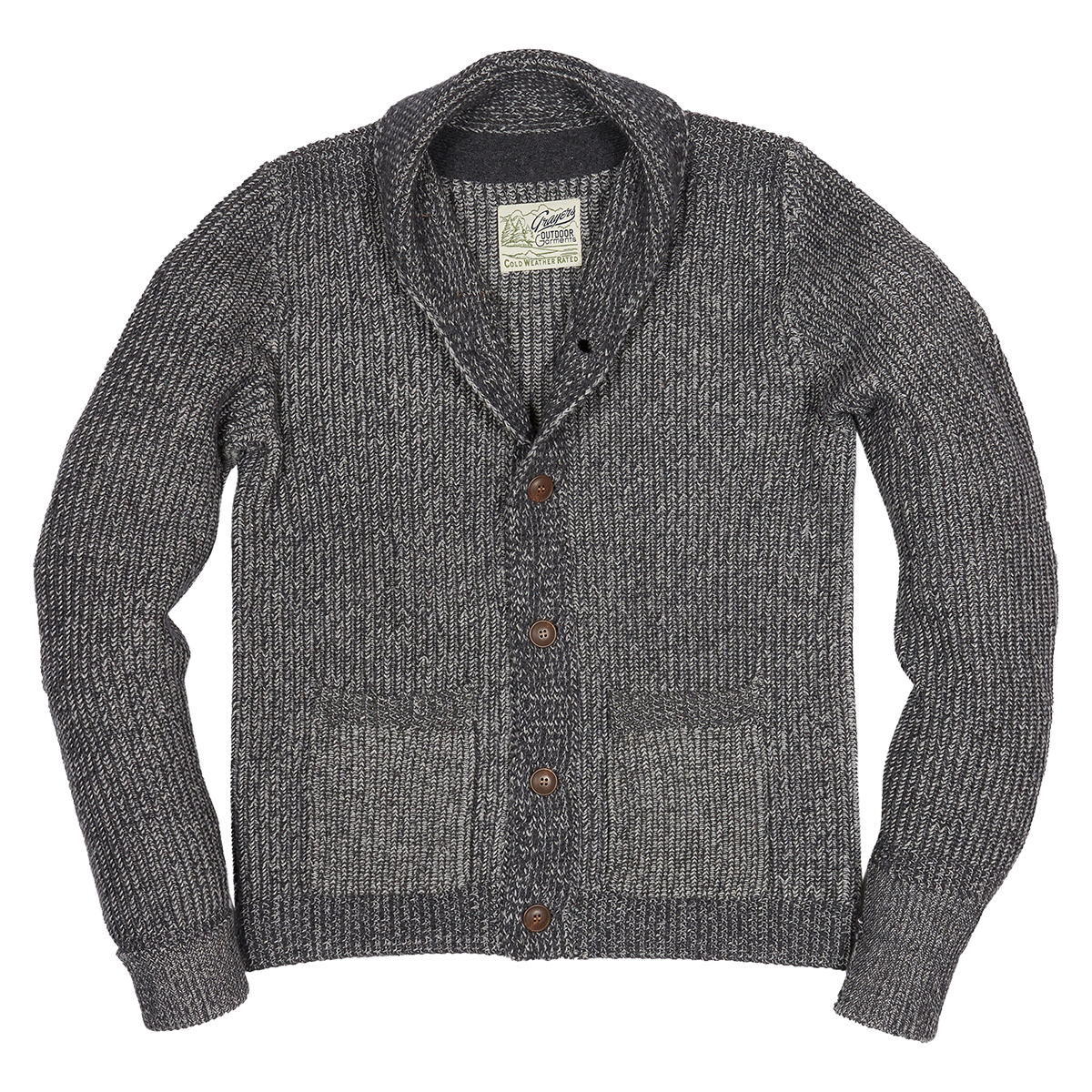 Belmont Plaited Cardigan Sweater - Charcoal