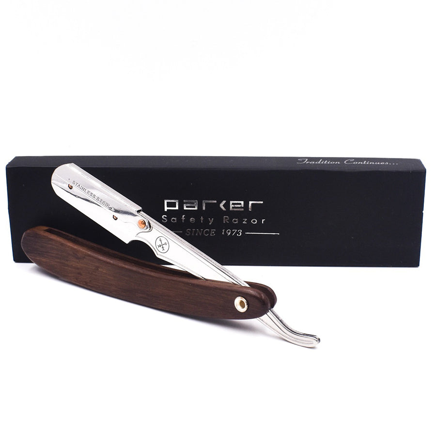 Dark Sheeham Wood Handle Shavette Razor - SRDW