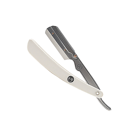 White Resin Shavette Razor - SRW