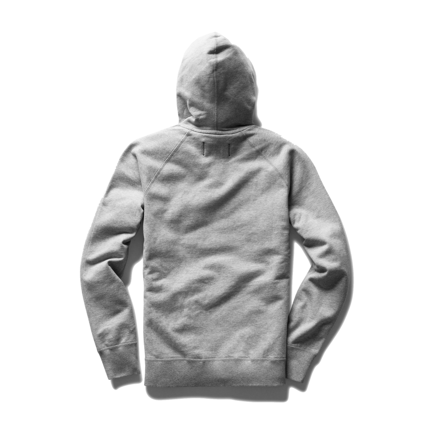Mid Wt Terry Full Zip Hoodie - Heather Grey