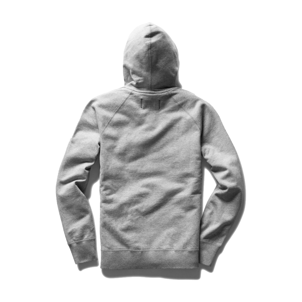 Mid Wt Terry Pullover Hoodie - Heather Grey