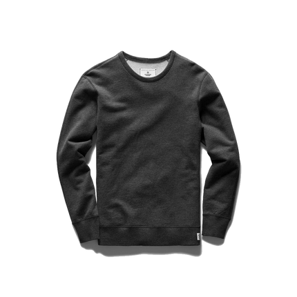 Mid Wt Terry Long Sleeve Crew Neck - Heather Charcoal