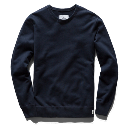 Mid Wt Terry Long Sleeve Crew Neck - Navy
