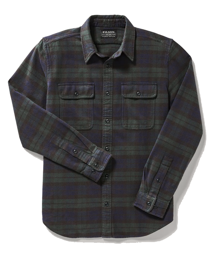 Vintage Flannel Work Shirt - Black/Green/Navy