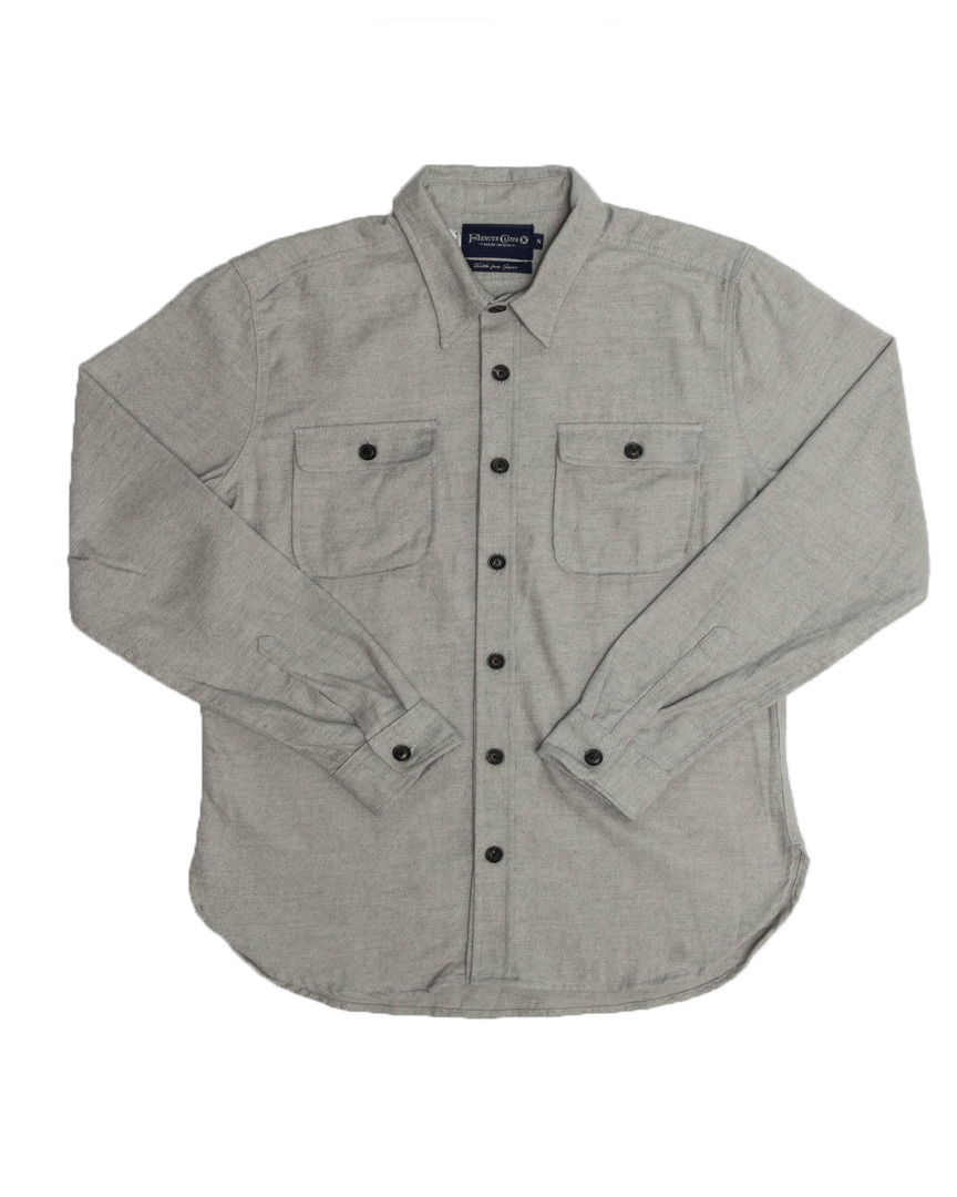 Gilroy Button Up - Ash Grey