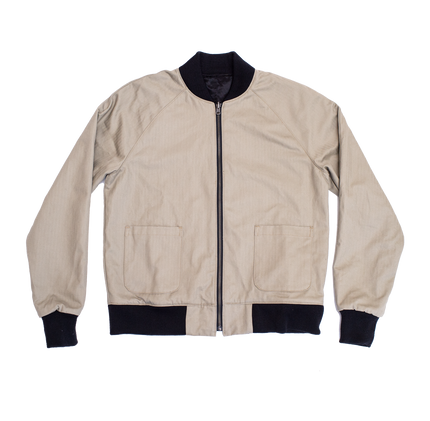 Reversible Flight Jacket - Tan/Black