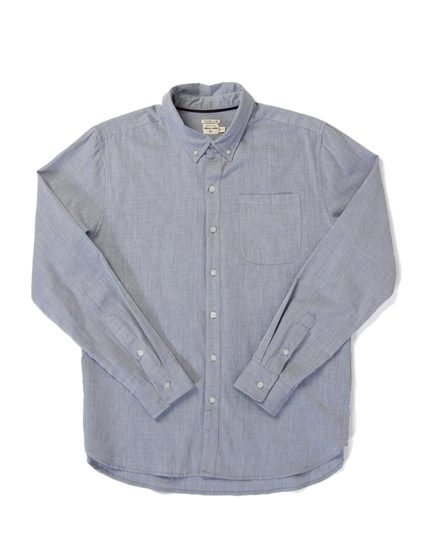 Sutton L/S Button Down - Navy Herringbone