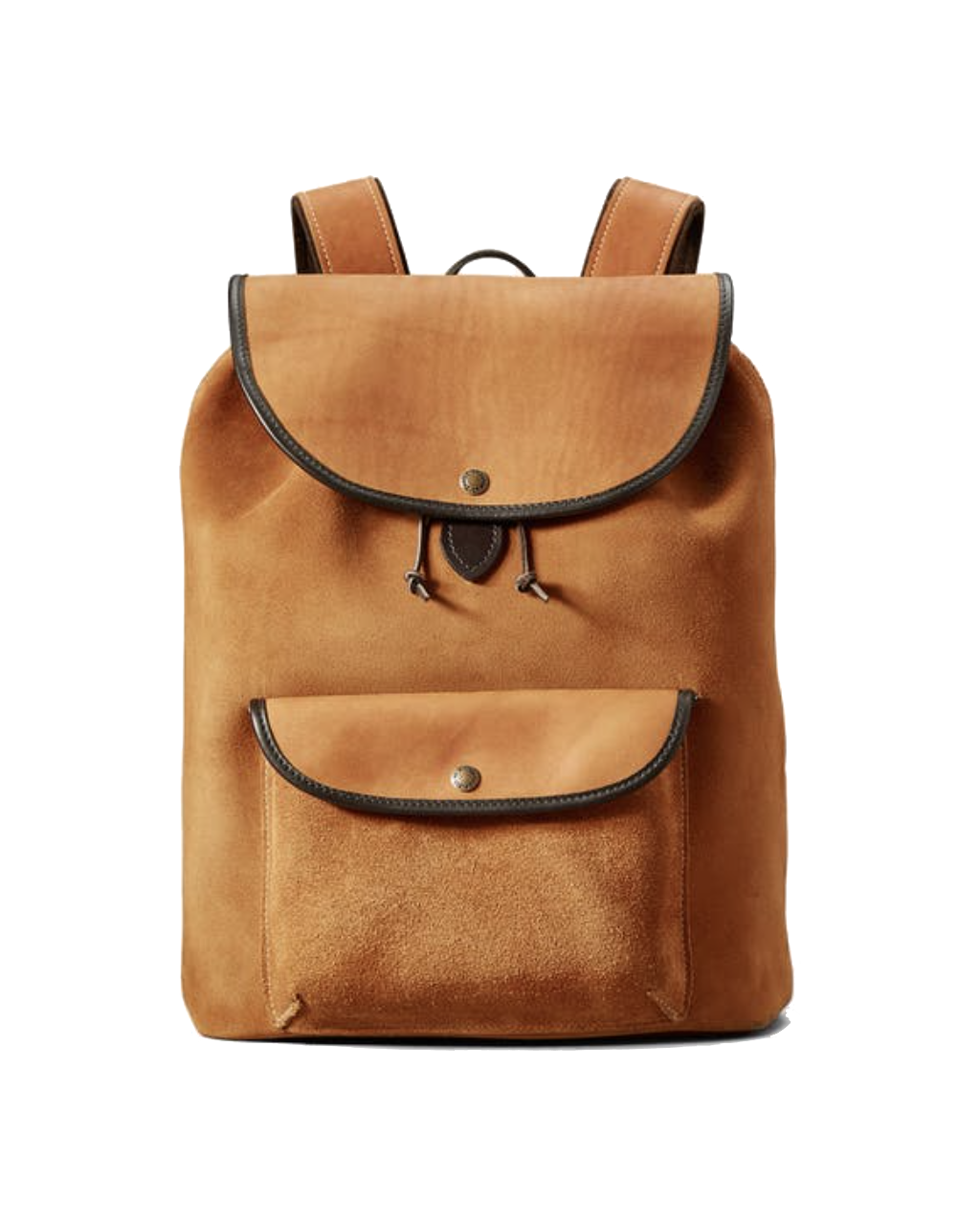 Rugged Suede Backpack - Saddle Brown