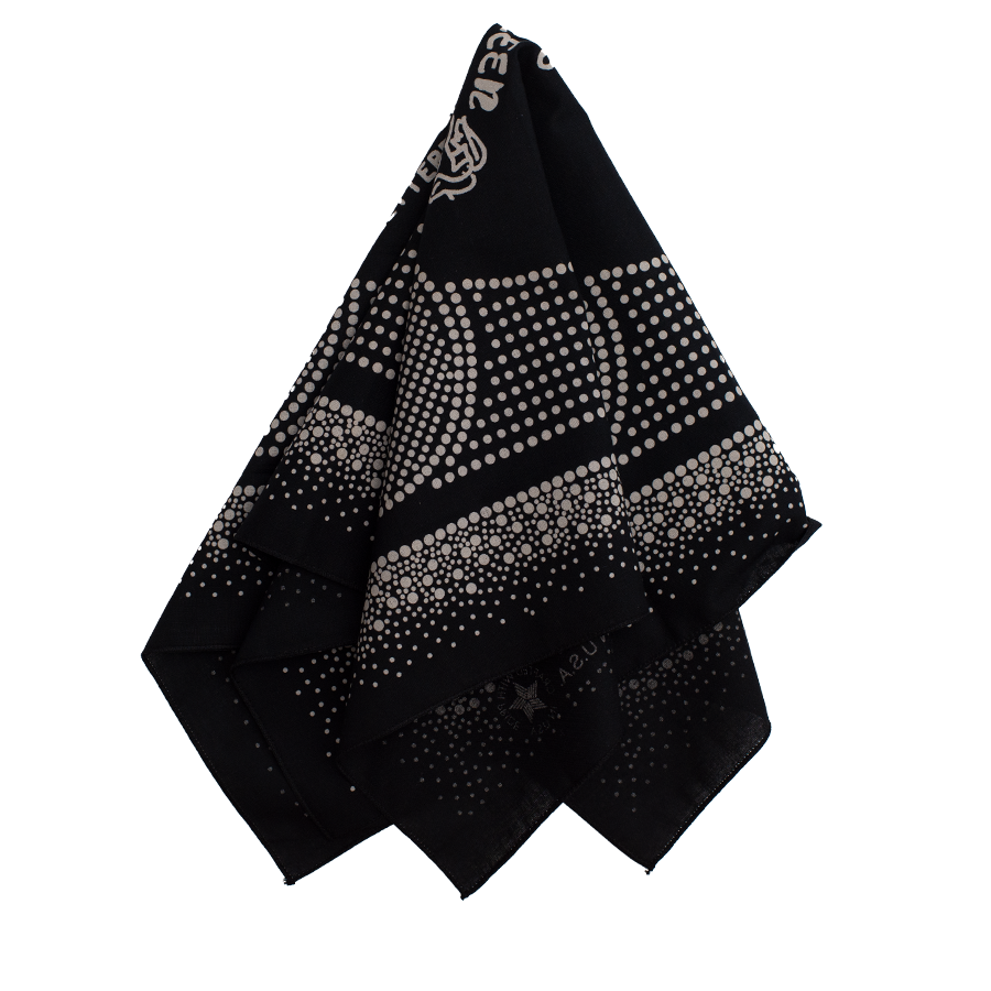 Dot Print Bandana - Black