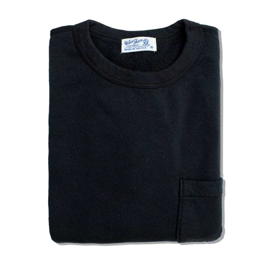 10oz Set in Sweat w Pocket - Black
