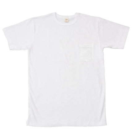 Heavyweight Pocket Tee Shirt - White