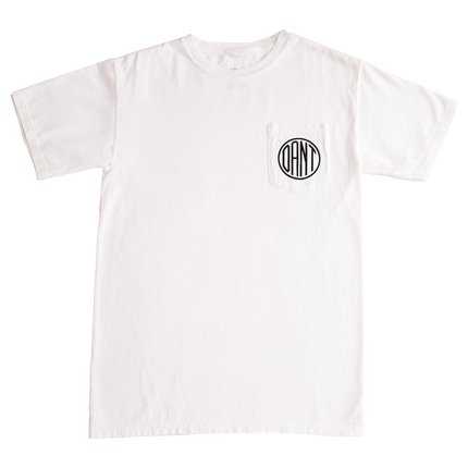 Dant Monogram Pocket Tee - White