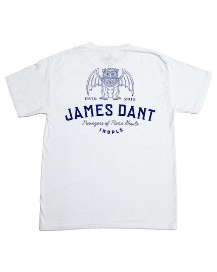 Dog Daze Pocket Tee - White/Indigo