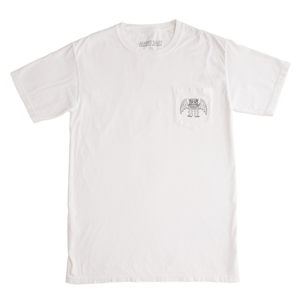 Gargoyle Pocket Tee - White