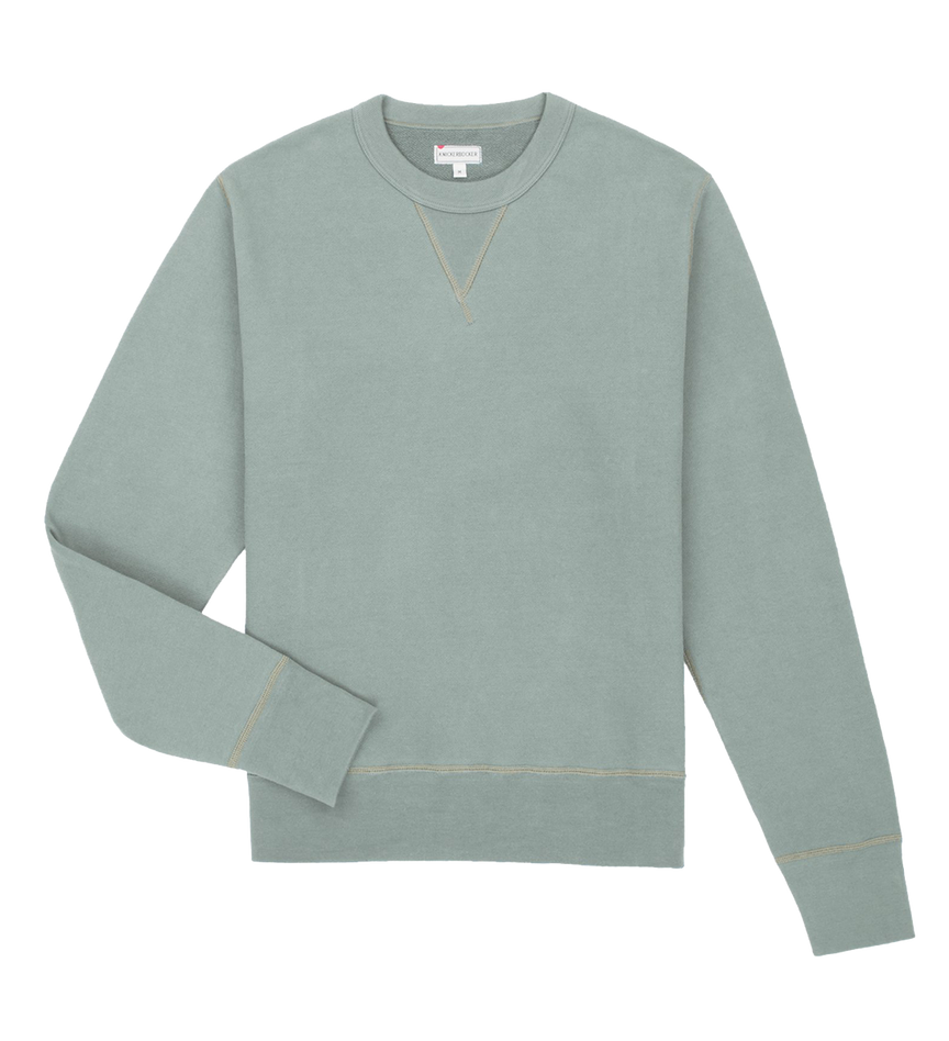 Crew Neck Fleece - Agave Green