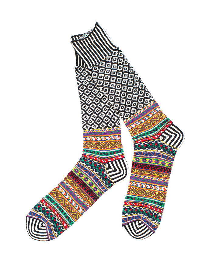 Litanian Multi Crew Sock - Black