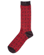 Strycture Jaquard Crew Sock - Brown