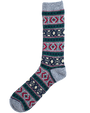Wool Jacquard Socks - Grey