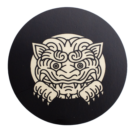 Sneak Peek Gargoyle Sticker - Black