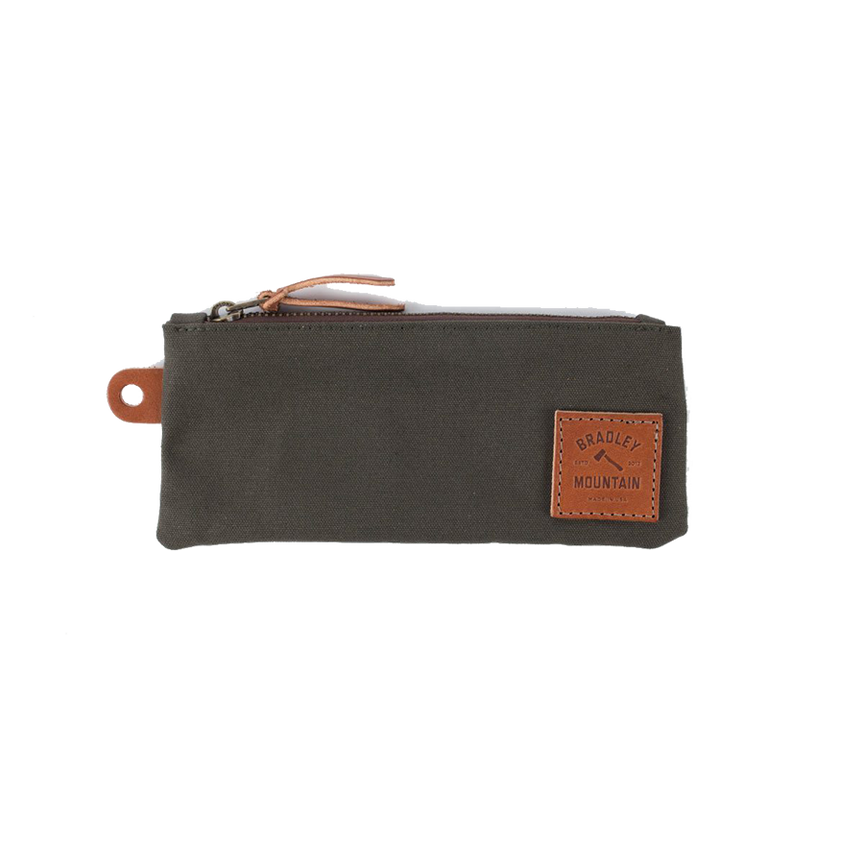 Zip Pencil Pouch - Drab