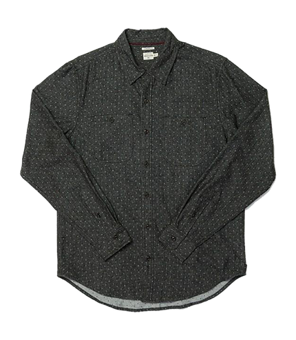 Winslow Button Up - Charcoal Polkadot