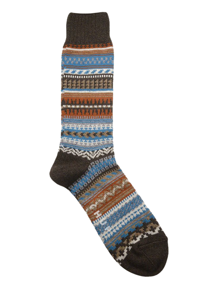 Butte Crew Sock - Chocolate