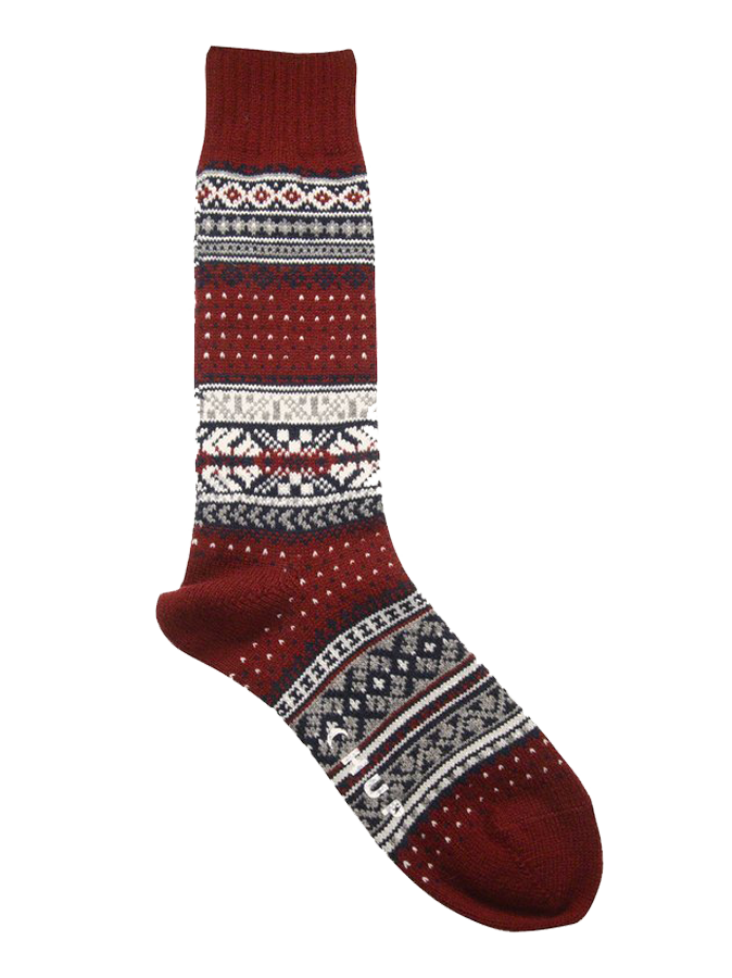 Ceret Crew Sock - Crimson