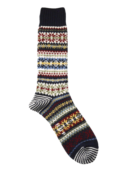 Fair Snow Crew Sock - Navy