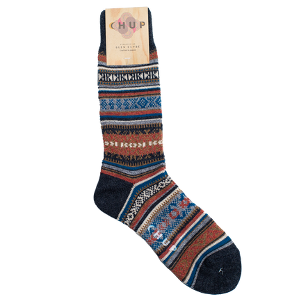 Inkle Crew Sock - Pebble Blue