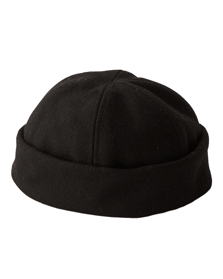 Melton Wool Cap - Black