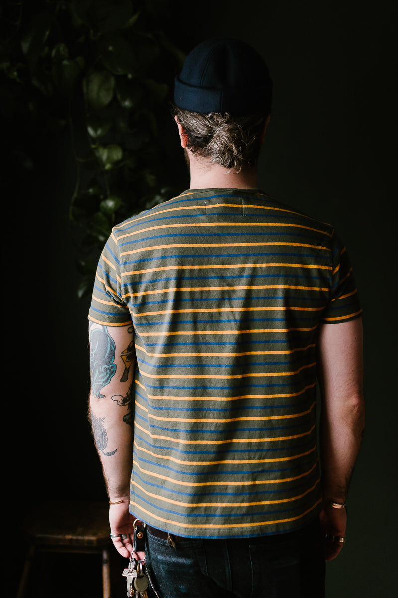 Stripey T-Shirt - Olive