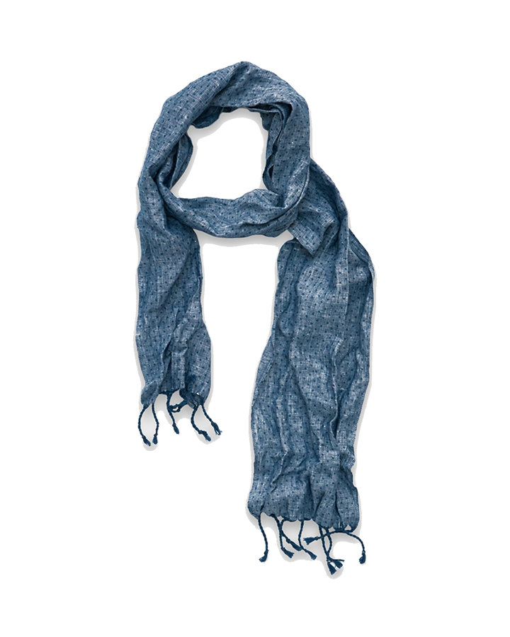 Chambray Linen Dot Scarf