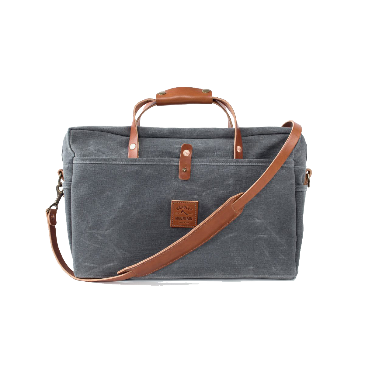 The Courier Briefcase - Charcoal