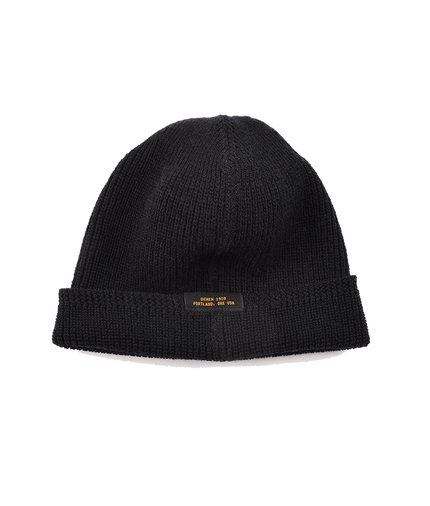 Wool Knit Watch Cap - Black