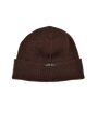 Wool Knit Watch Cap - Brown