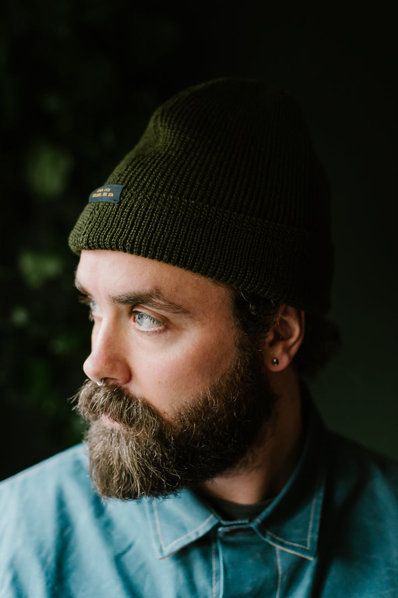 Wool Knit Watch Cap - Loden