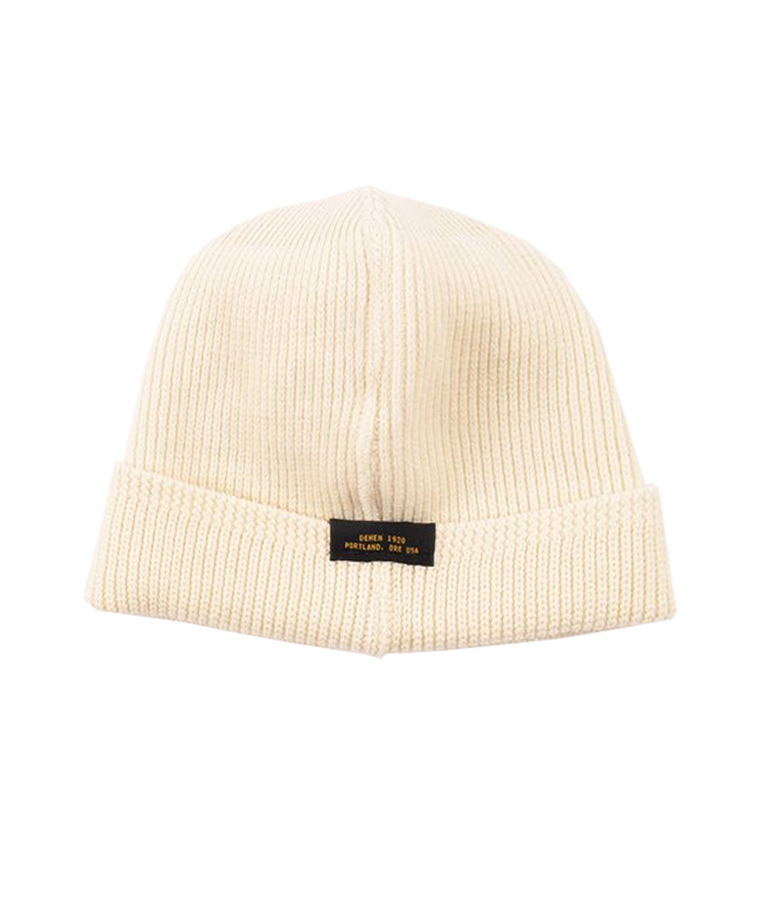 Wool Knit Watch Cap - Natural