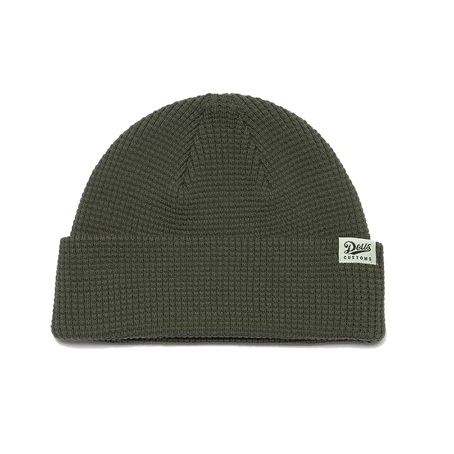 Waffle Beanie - Forest Green