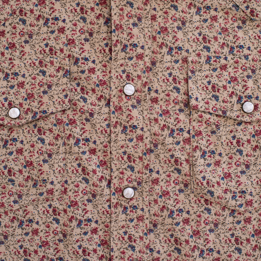 Western Micro Cord Shirt - Wallpaper Sand
