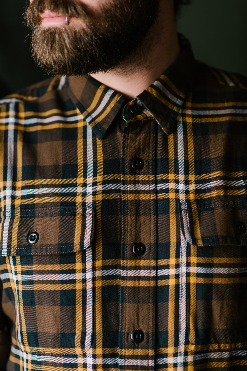 Scout Shirt - Brown, Black, Gold