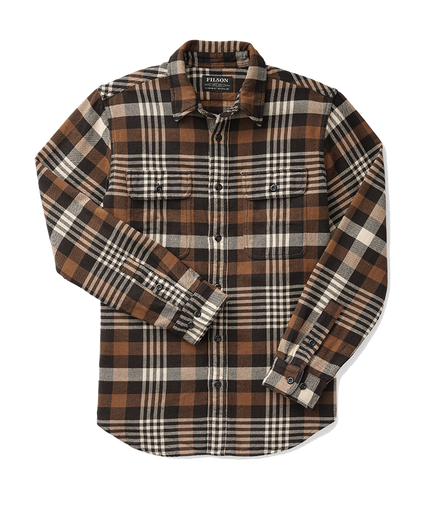Vintage Flannel Work Shirt - Black/Brown/Cream