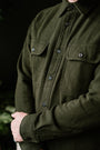 Vintage Flannel Work Shirt - Olive, Faded Black