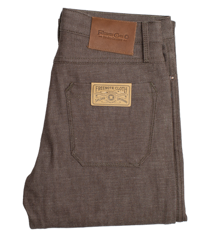 13oz - Rios Slim Straight Denim - Brown