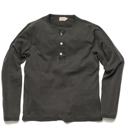 13oz L/S Henley - Midnight