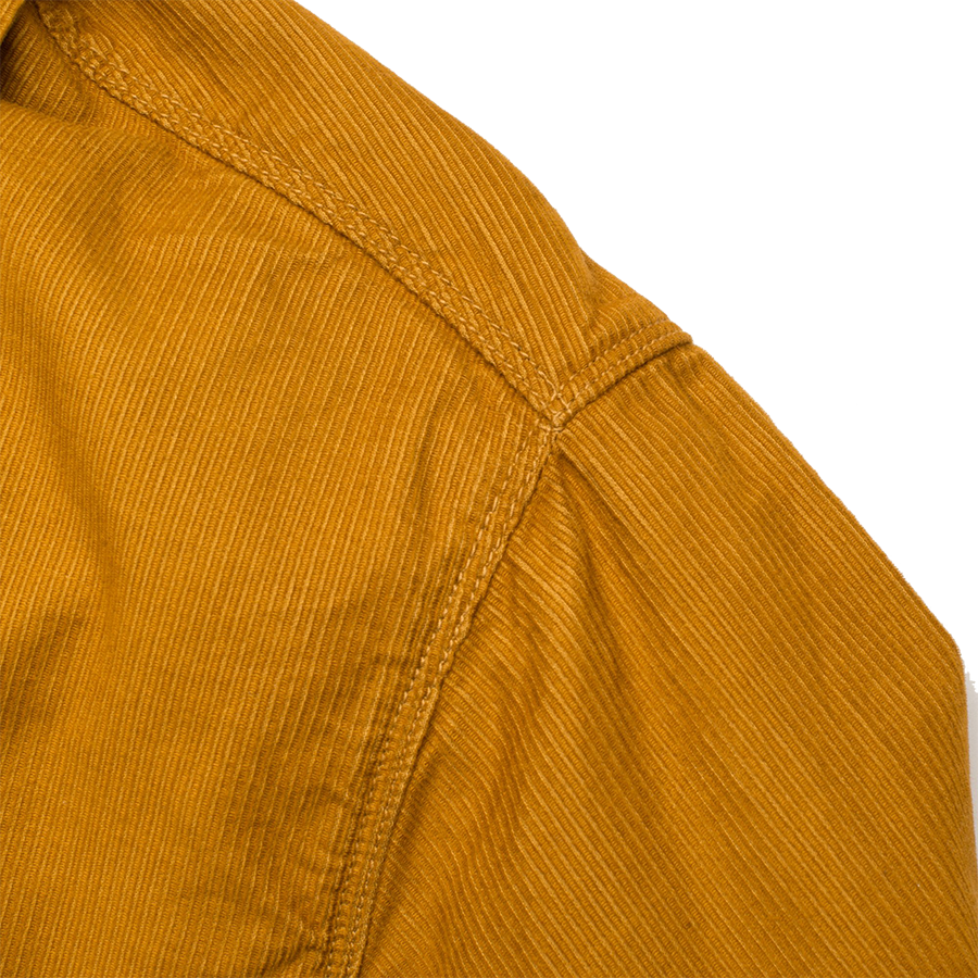 As Is* Benson Shirt - Gold Corduroy